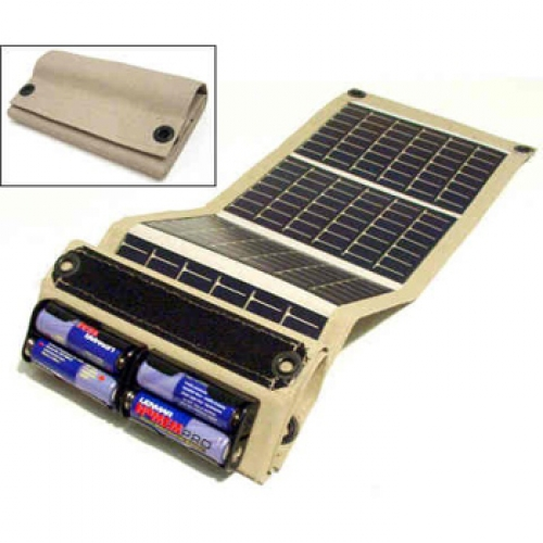 Foldable Aa Amp Aaa Solar Charger With Usb Connector