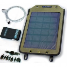5 Watt, Solar Panel & 8100 mAh Battery & Apple Cable